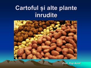Cartoful i alte plante  nrudite