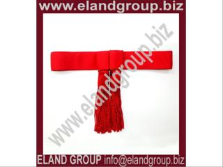 Army Sash, Waist Belt, Red Waist Sash