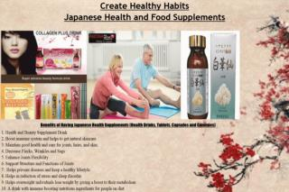 Collage-japanese Health Drinks and Supplements