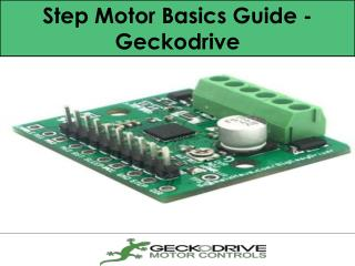 Step Motor Basics Guide - Geckodrive
