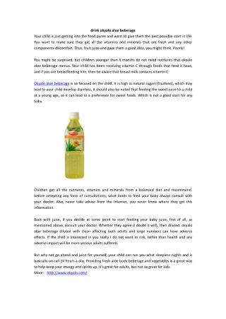 drink okyalo aloe beberage