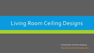 False ceiling decorations for living room