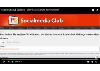 Socialmediaclub Übersicht - Besuchergewinnung mit Viralmailer