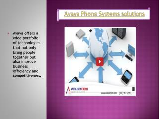 Avaya Phone Systems solutions