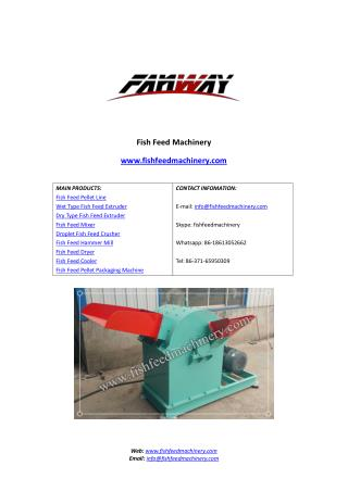 Fish Feed Hammer Mill - Fish Feed Pellet Mill