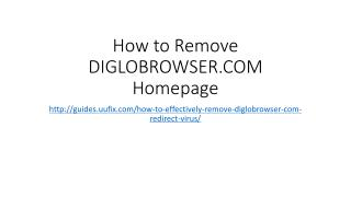 How to Remove DIGLOBROWSER.COM Homepage