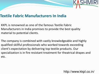 Textile Fabric Manufacturers in India