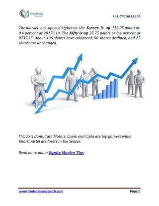 Free Trading Tips on Equity and Commodity Market