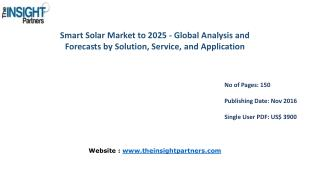 New study: Smart Solar Market Trends, Business Strategies and Opportunities 2025– The Insight Partners