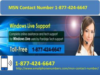 MSN Contact Number 1 877 424 6647