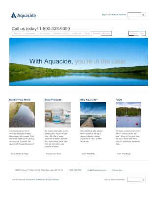 Certified Products for Lake Weed Control At Aquacide