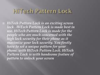 HiTech Pattern Lock