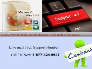Microsoft Office 365 setup 1-877-424-6647