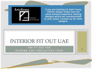 Responsible Interior Firm For Making Precocious Commercial Interior Fit Out UAE