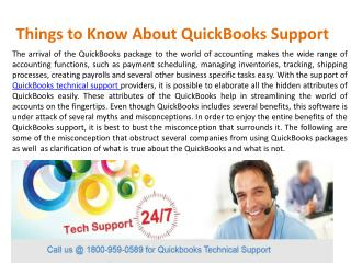 Things to Know About QuickBooks Support @1-800-959-0589
