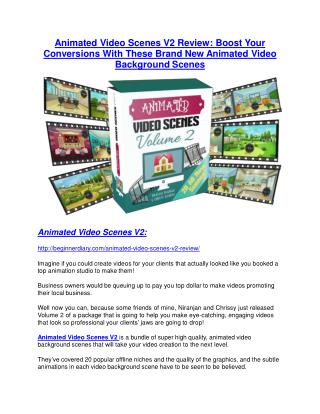 Animated Video Scenes V2 Review - SECRET of Animated Video Scenes V2