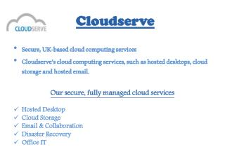 Cloud Desktop Hosting