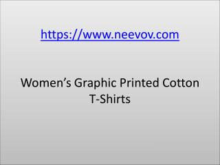 Womens Graphic Design Cotton Turquoise Colour T Shirts