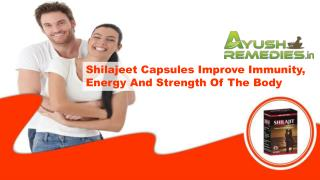 Shilajeet Capsules Improve Immunity, Energy And Strength Of The Body