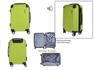"Discount Hard Shell Lightweight 4 Wheel Suitcase for 20"" 24"" 28"""