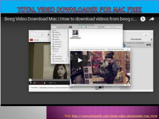 Total video downloader for Mac free Online