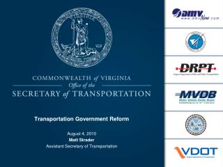Transportation Government Reform