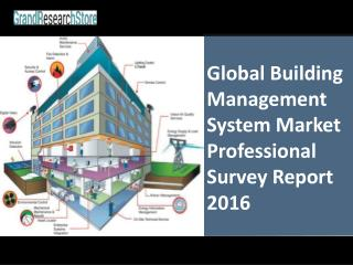 Global Building Management System Market Professional Survey Report 2016