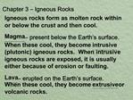 Chapter 3   Igneous Rocks
