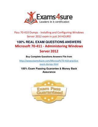70-410 Practice Test