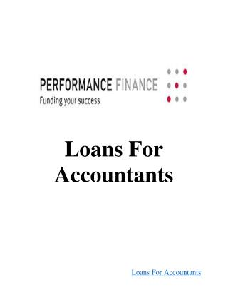 Loans For Accountants