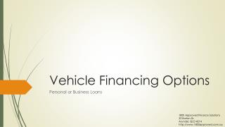 Different Vehicle Financing Options
