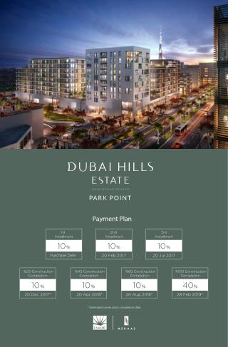 "EMAAR introduces ""Park Point"" at Dubai Hills Estate   FOR DETAILS CONTACT  919958959555"
