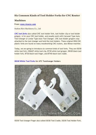 CNC tool forks ISO30 HSK BT30 BT40 plastic gripper clip fingers
