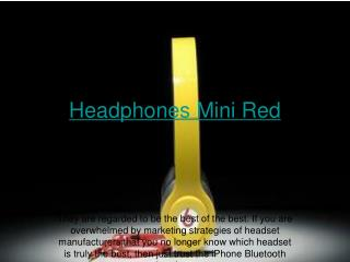 Headphones Mini Red