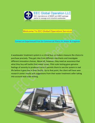 Domestic and Industrial MBBR WWTP