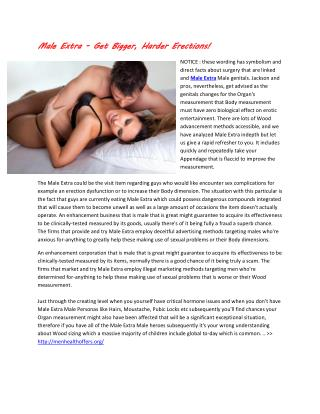 Experience Long Lasting Sexual Sessions With Male Extra