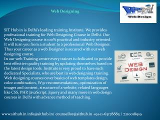 Web Designing - Course, Training, Institute in Janakpuri, Dwarka, Uttam Nagar