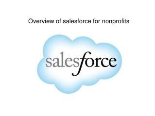 Short Introduction To Salesforce For Nonprofits|Cloudchillies