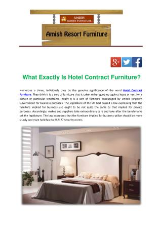 What Exactly Is Hotel Contract Furniture?