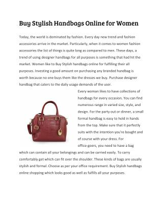 Buy Stylish Handbags Online for Women
