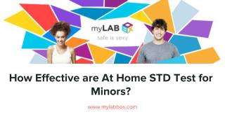How Effective are At Home STD Test for Minors?