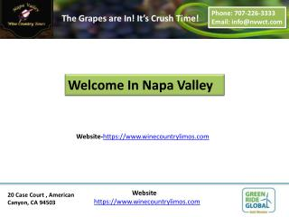 napa winery tours