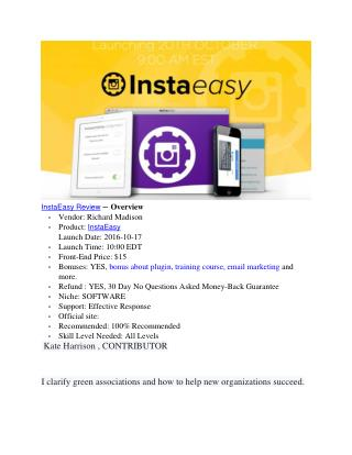 InstaEasy Review - should you need it ?