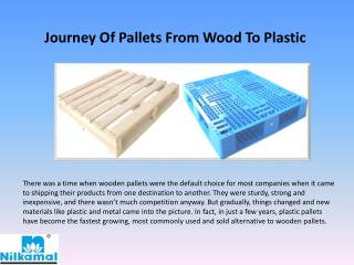 Journey of Pallets from Wood to Plastic