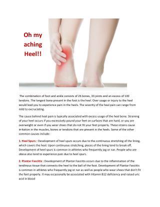 Oh my aching heel..!!