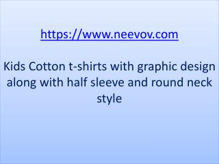 Kids Design Printed Red Colour Cotton T Shirts