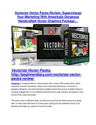 Vectorize Vector Package review and Vectorize Vector Package $11800 Bonus & Discount