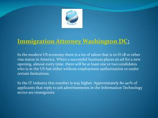 Immigration Attorney Washington DC