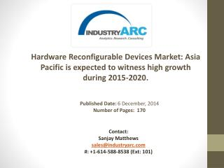 Hardware Reconfigurable Devices Market Analysis | IndustryARC