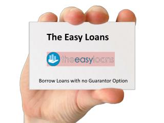 No Guarantor Loans on Easy Terms